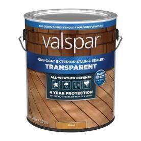 Valspar Exterior Stain And Sealer Pre Tinted Cedar Naturaltone Transparent Exterior Stain Actual Net Contents 1 Gallon Exterior Stain Valspar Deck Stain Colors