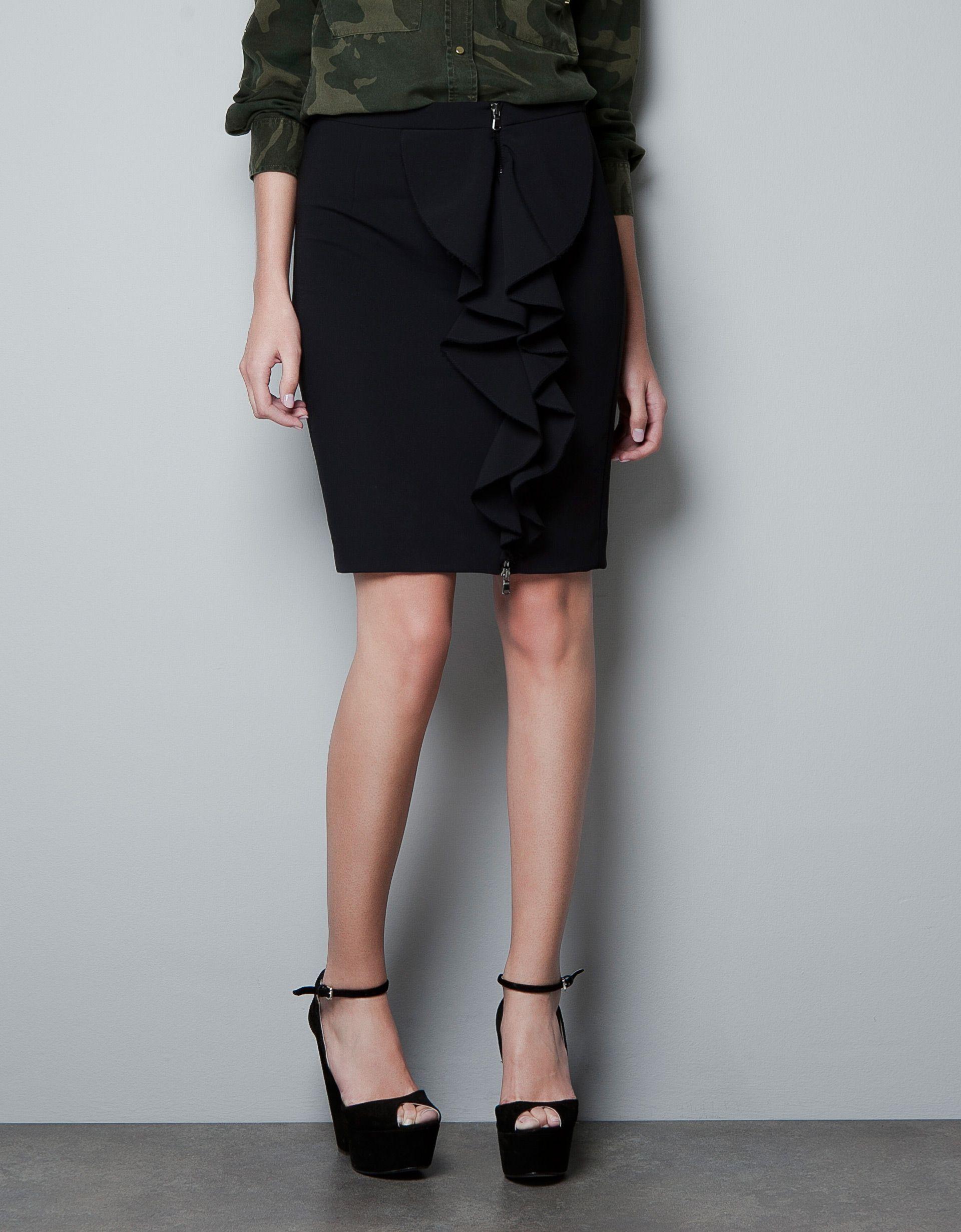 Tubo México Zara Falda Volante Faldas Mujer 4X6d86 4fc92fbc895