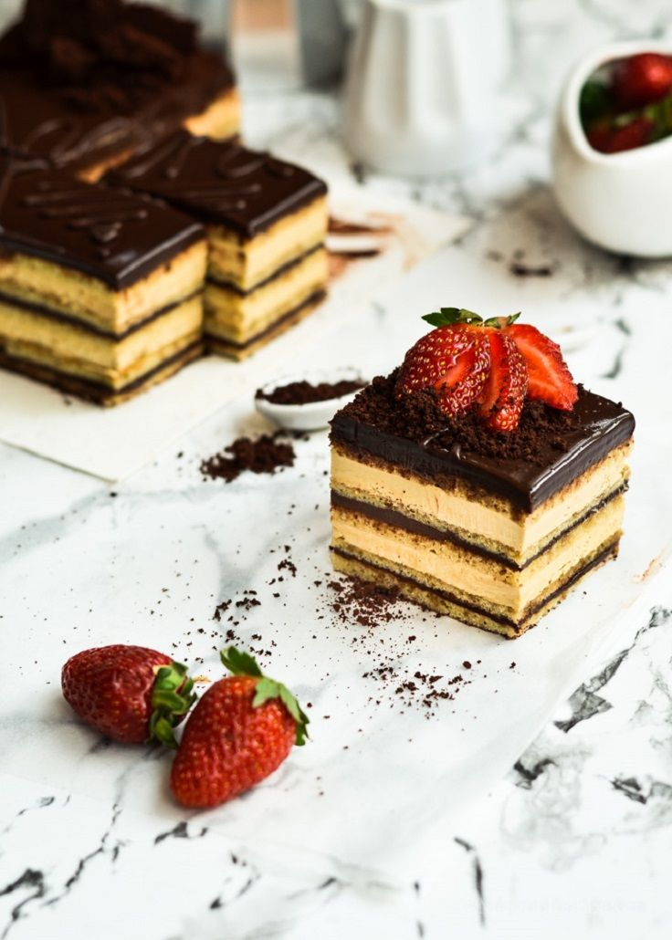 Opera cake 11 most famous french desserts dessert for Postres franceses faciles