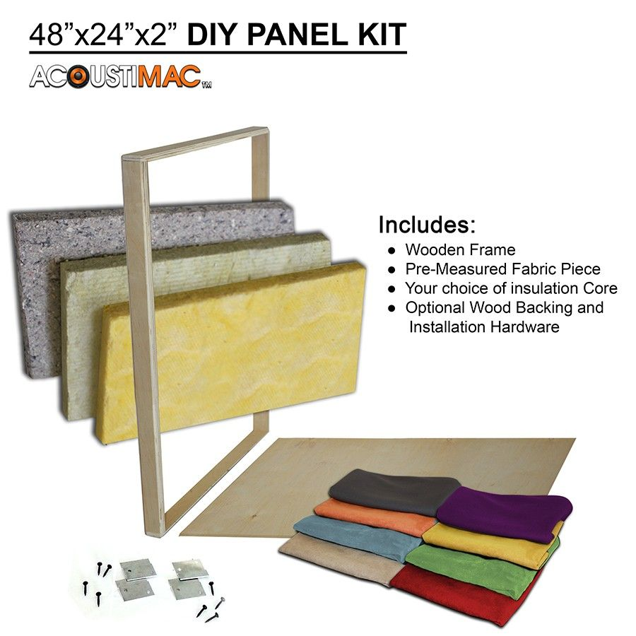 DIY422 Acoustic Panel Kit | Acoustic panels, Sound proofing and Room