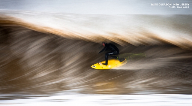 Mike Gleason, speed blur in Surfline's June F-Stop. © VOLCOM & CONTENT NOT…