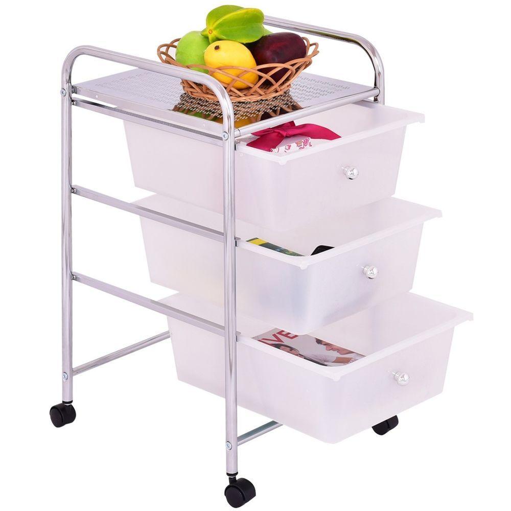 office trolley cart. Portable Wheels 3 Drawer Storage Trolley Cart Home Office Beauty Salon White Office Trolley Cart D