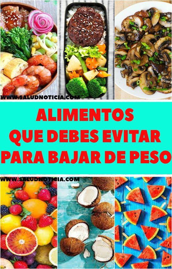 ALIMENTOS QUE DEBES EVITAR PARA BAJAR DE PESO - Food..
