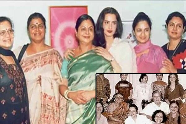 Rekha Is Actor Gemini Ganesan And Actress Pushpavalli S: With Sisters-family