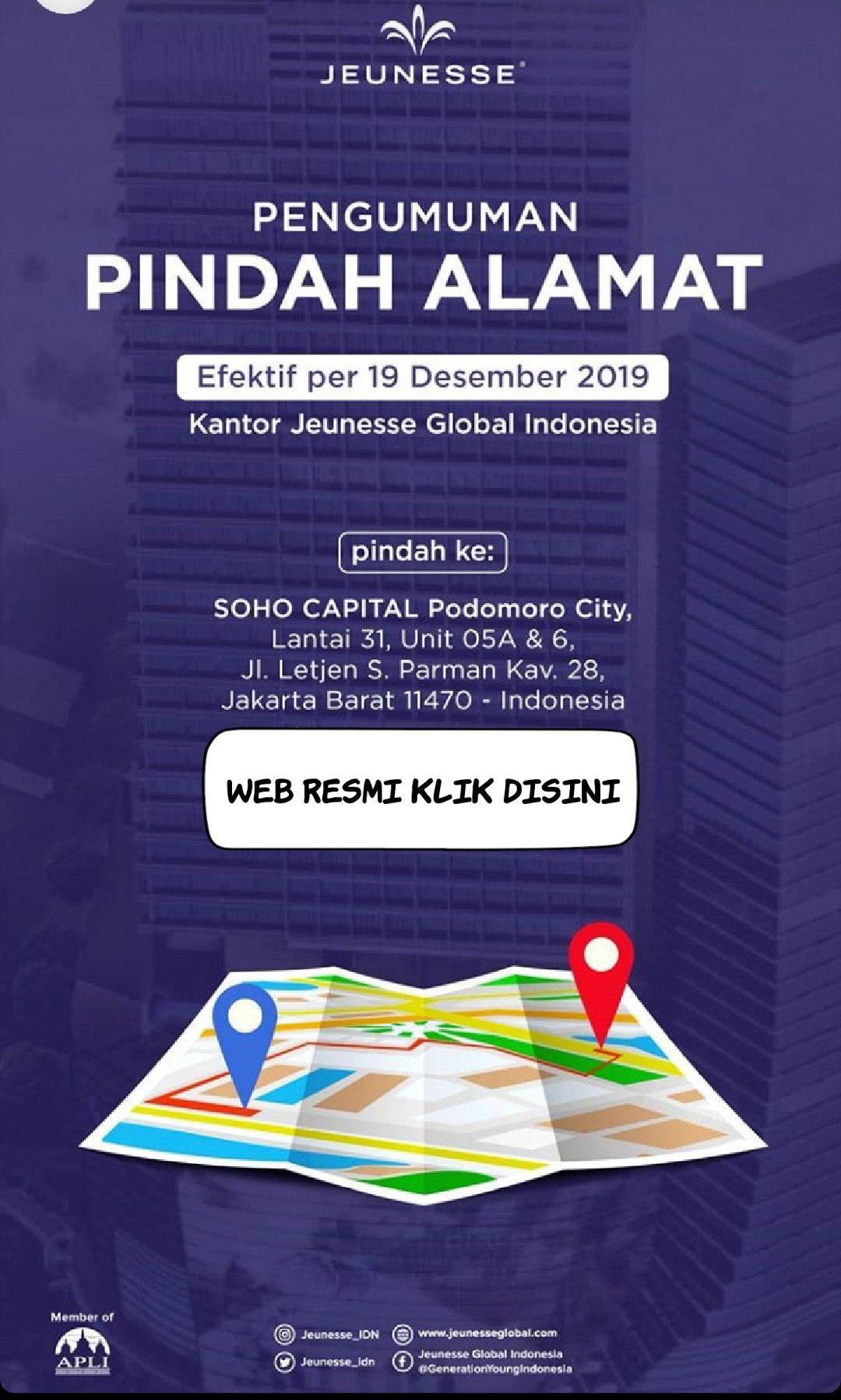 Kantor Reserve Jeunesse Indonesia Pindah Alamat Indonesia Soho