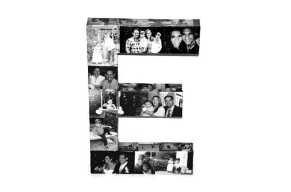 Photo Collage letter 16\