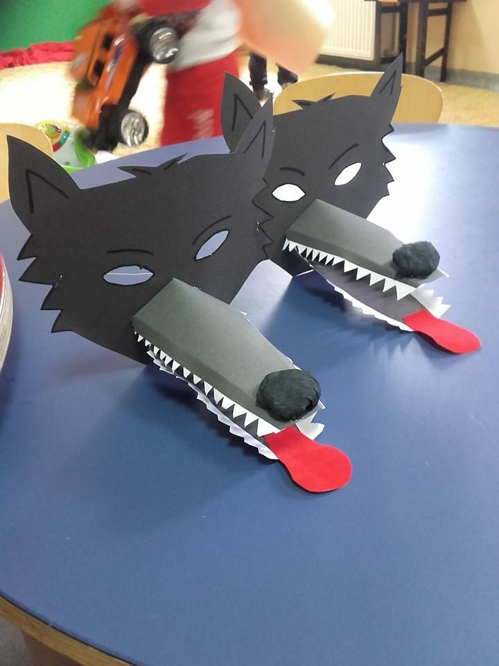 Bas Wolf Mask Basteln Mit Kind Pinterest Wolf Mask Wolf Und