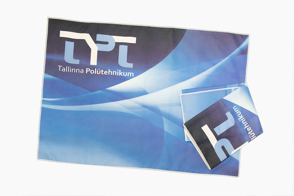 Tallinna Polütehnikumi mikrofiibrist rätik www.stillabunt.ee