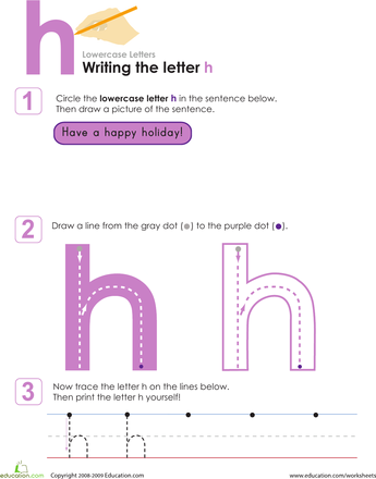 Writing The Letter H