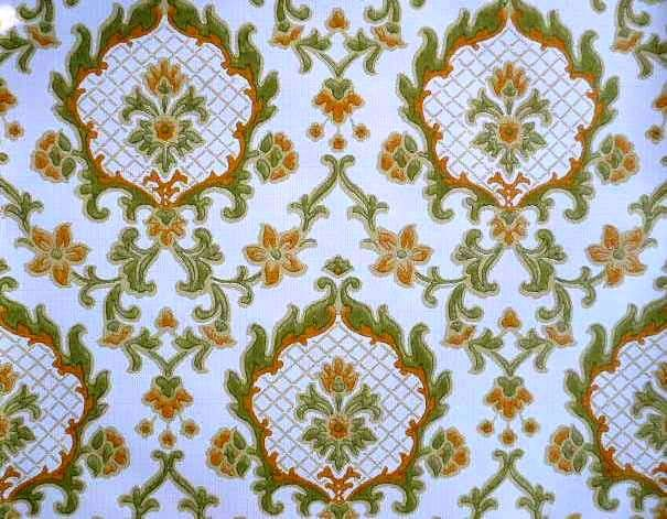 Vintage FRENCH BAROQUE WALLPAPER Complete Roll