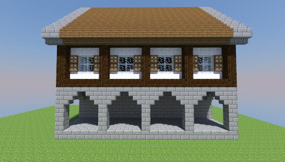 mcedit schematic - medium medieval house 05 ~ mcedit templates