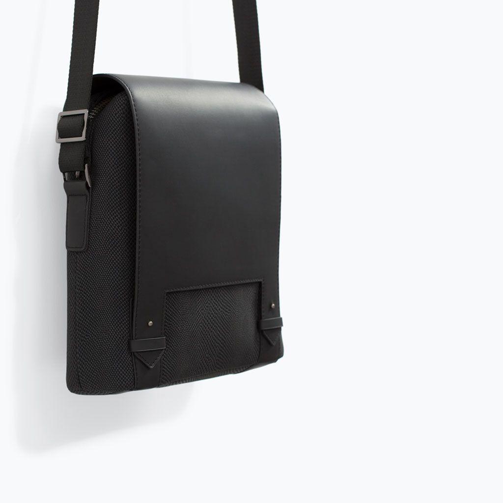 Mini leather tote bag zara - Zara New This Week Etched Mini Messenger Bag