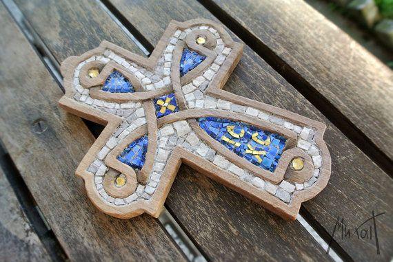 Mozaïek Kruis het kruis gesneden met mozaïek