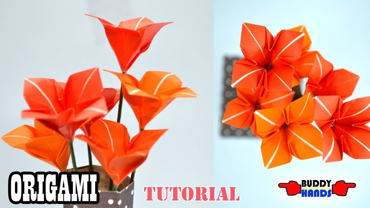 Easy Origami Kusudama Flower - YouTube | 720x1280