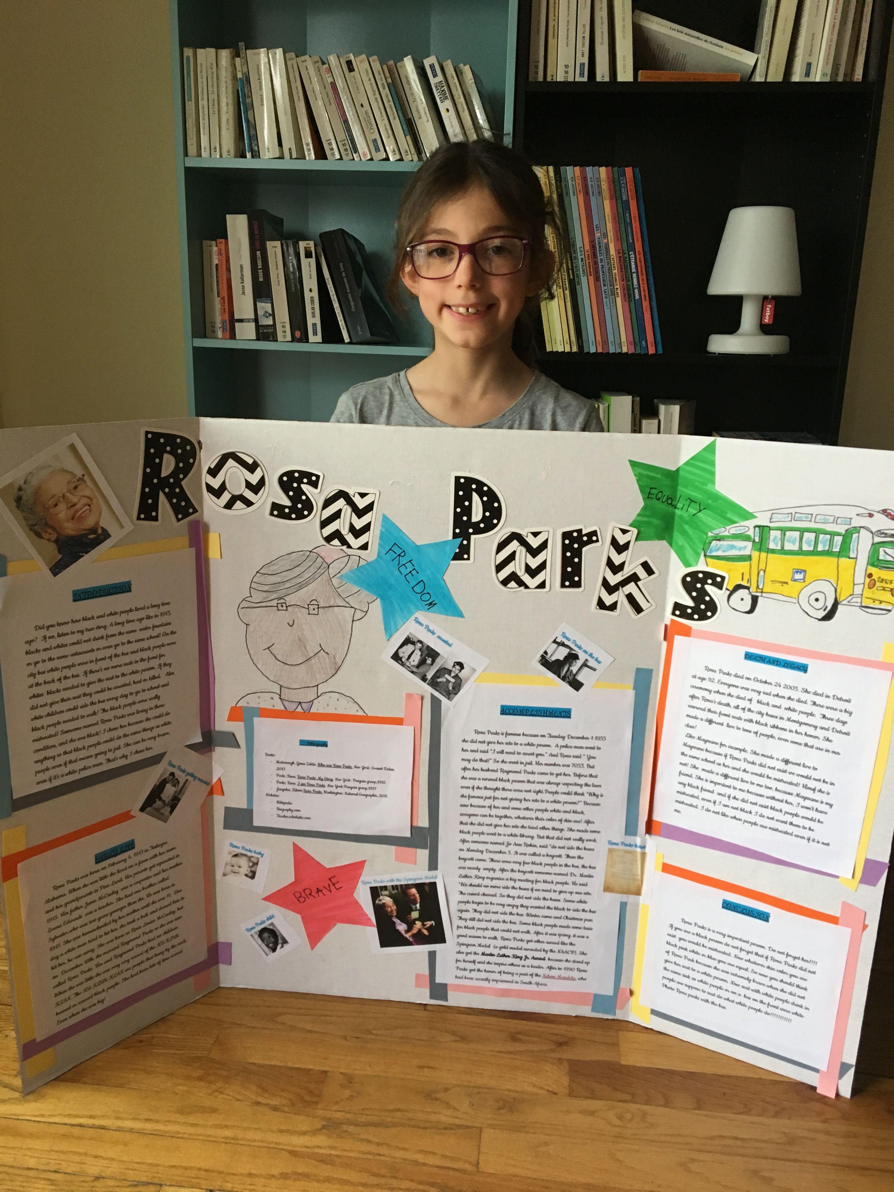 Board Rosa Parks Emma Grade 3