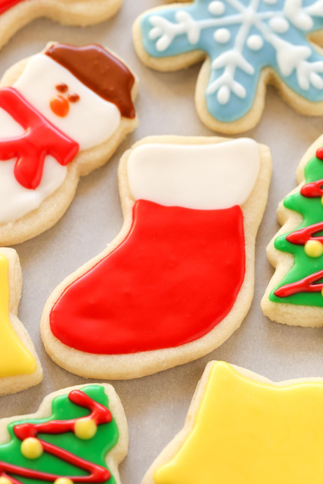 Super Soft Cut Out Sugar Cookies Decorated With An Easy Icing These