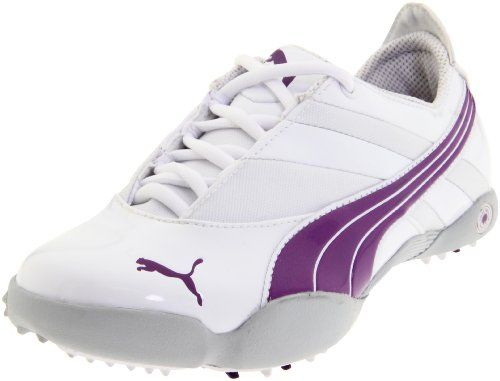 63998000 PUMA Womens Sunny Golf ShoeWhitePurple Magic55 M