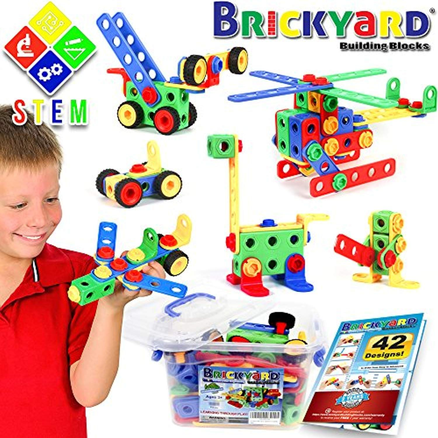 163 Piece Stem Toys Kit Educational Construction Engineering Building Blocks Learning Set For Ages 3 4 5 6 7 Year Best Kids Toys Stem Toys Toys For Boys