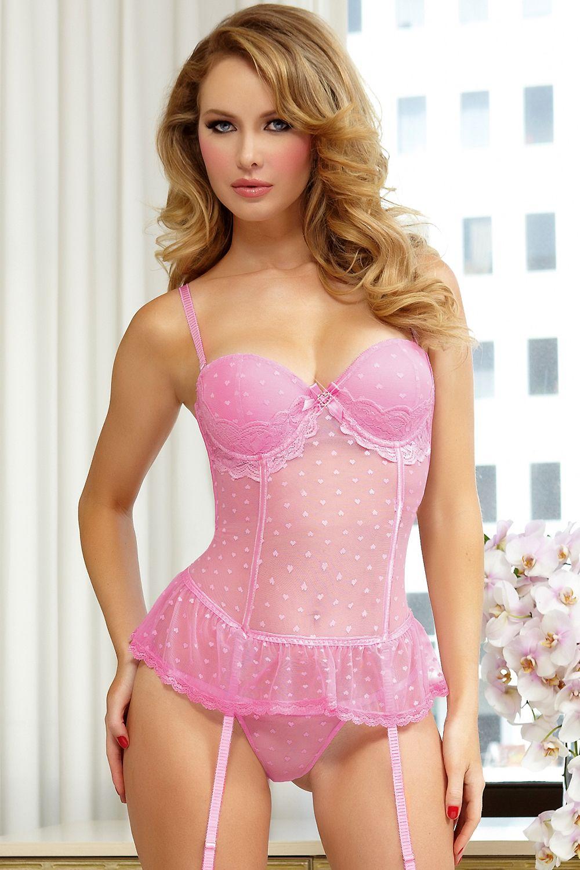in Busty panties pink girl black