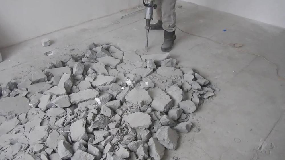разбит бетон