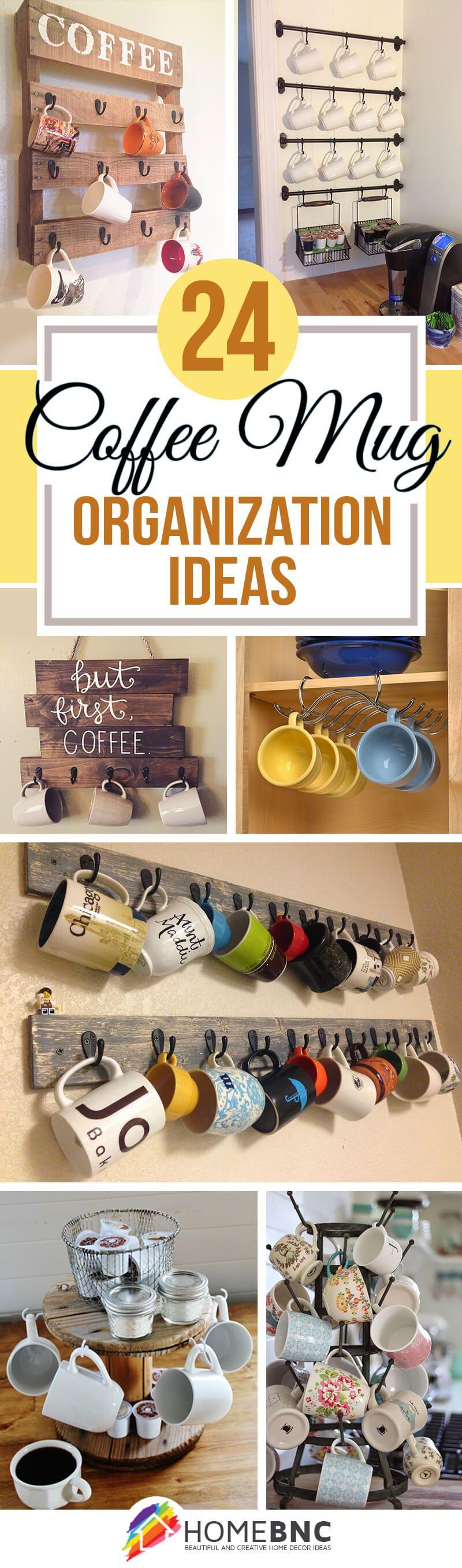 Fun And Creative Coffee Mug Organization Ideas Coffee Bar - Best coffee mug organization ideas