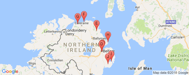 Map Of Ireland East Coast.Perfect 5 Days Causeway Itinerary N Ireland Places To Go Ireland
