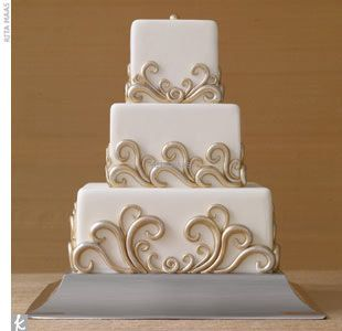 Swirly wedding cake. Simple.