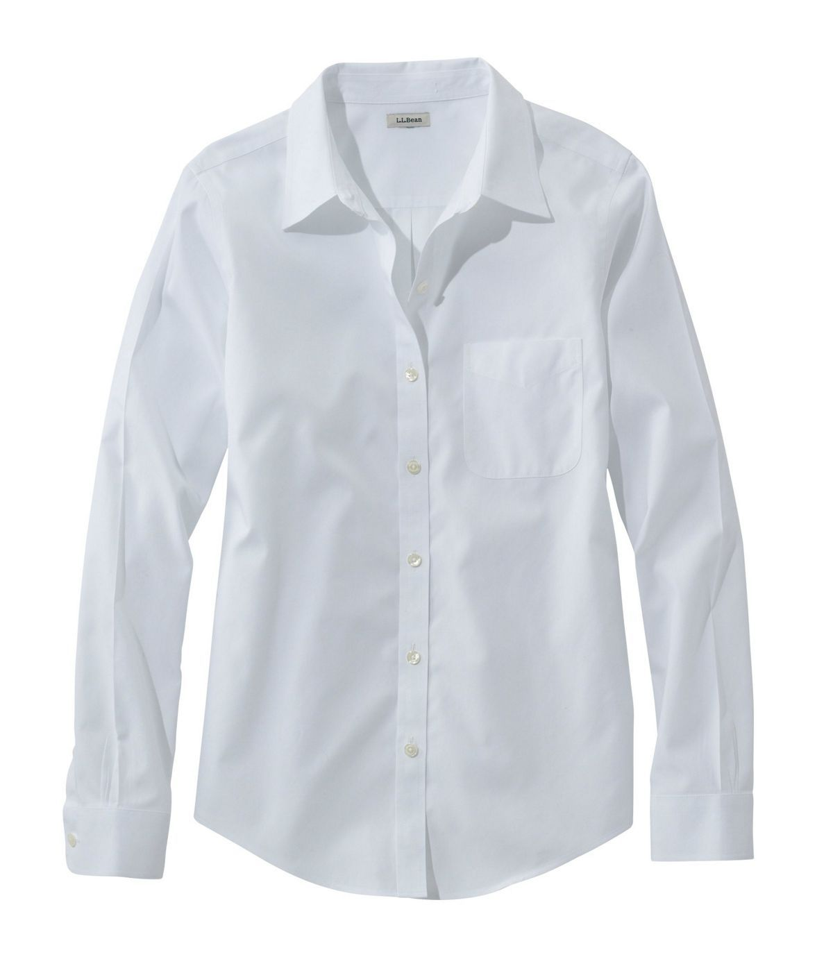 Women S Wrinkle Free Pinpoint Oxford Shirt Long Sleeve Relaxed Fit Oxford Shirt Women Shirt Outfit Women Oxford Shirt Women Outfit [ 1379 x 1200 Pixel ]