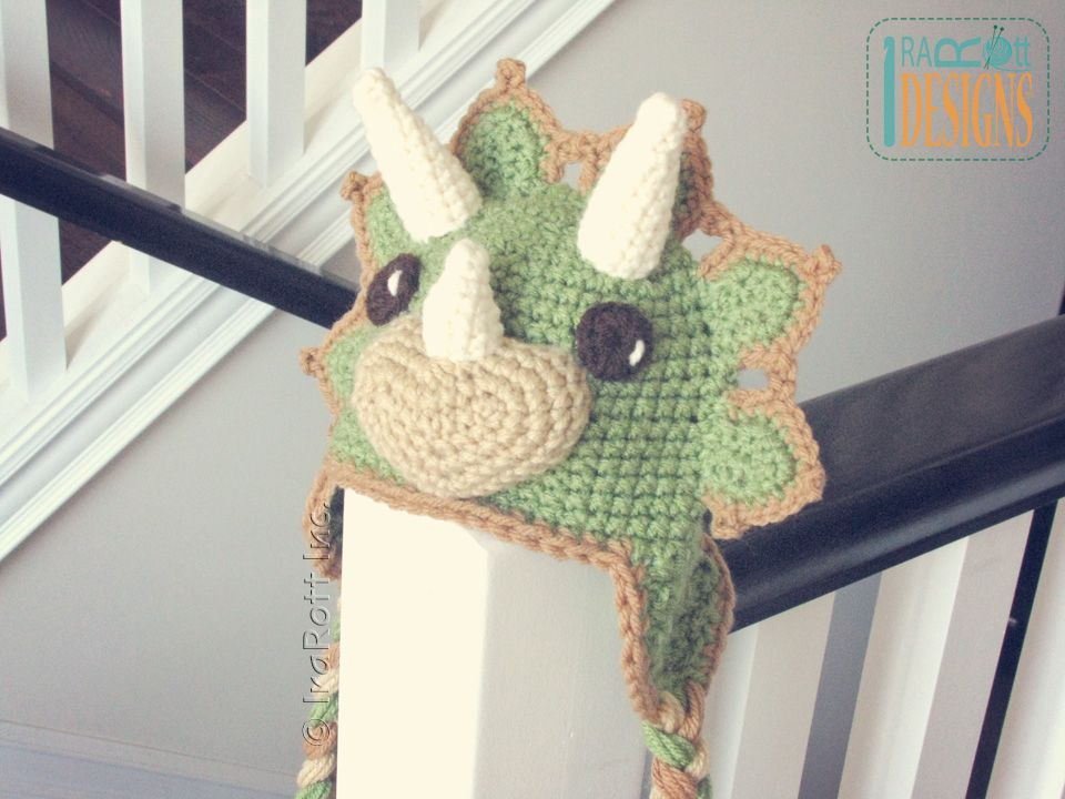 Cera The Triceratops Dino Hat Pdf Crochet Pattern By