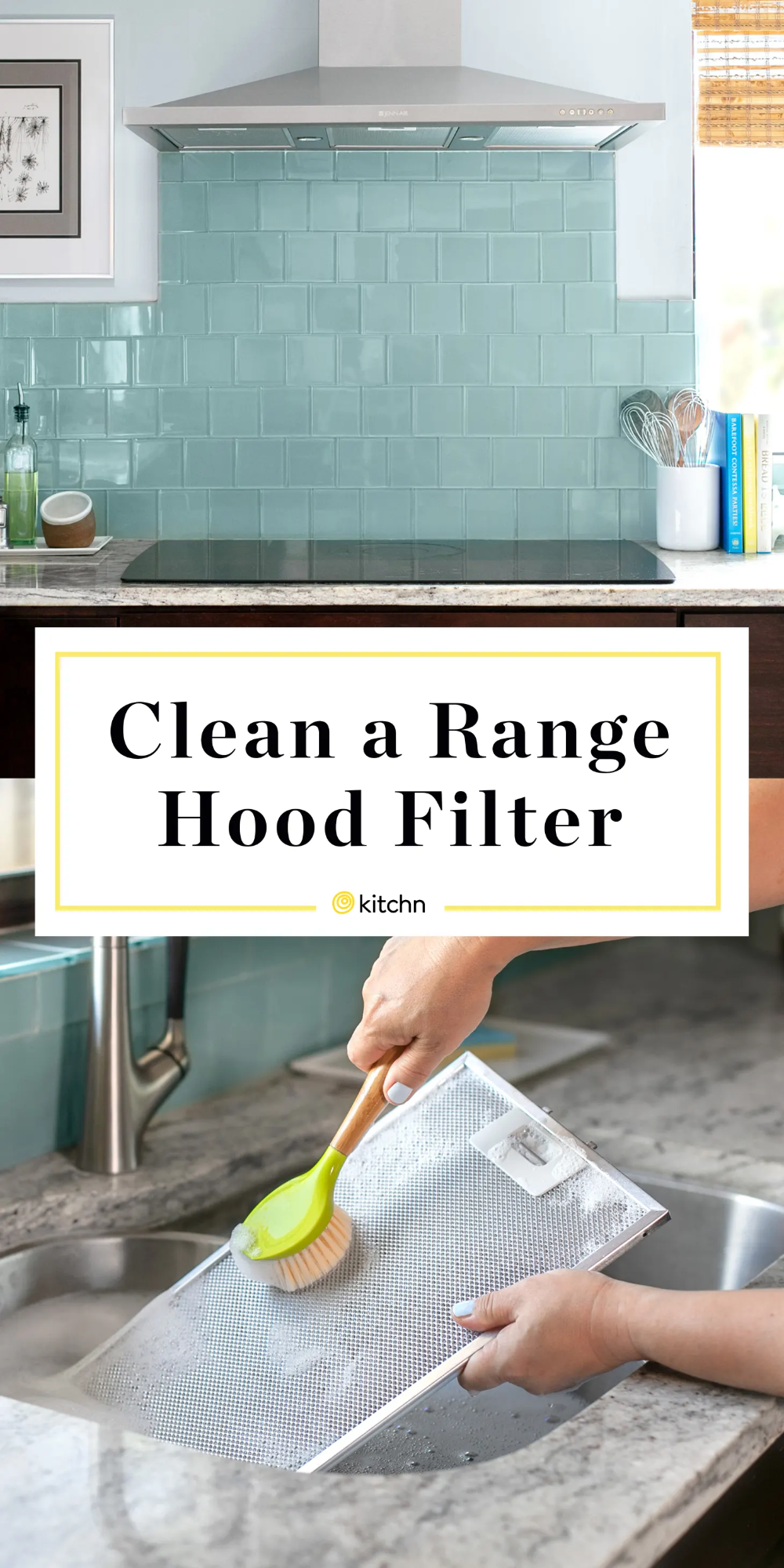 How To Clean A Greasy Range Hood Filter Range Hood House Cleaning Tips Range Hood Filters