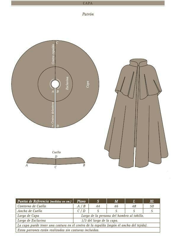 Capa fácil. | asap | Pinterest | Patrón de capa, Costura and Patrones