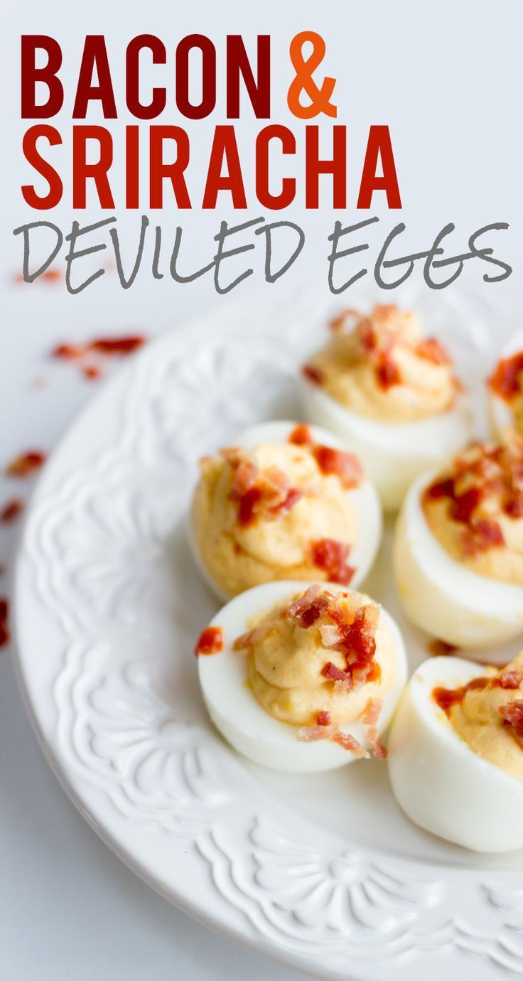 Bacon and Sriracha Deviled Eggs images