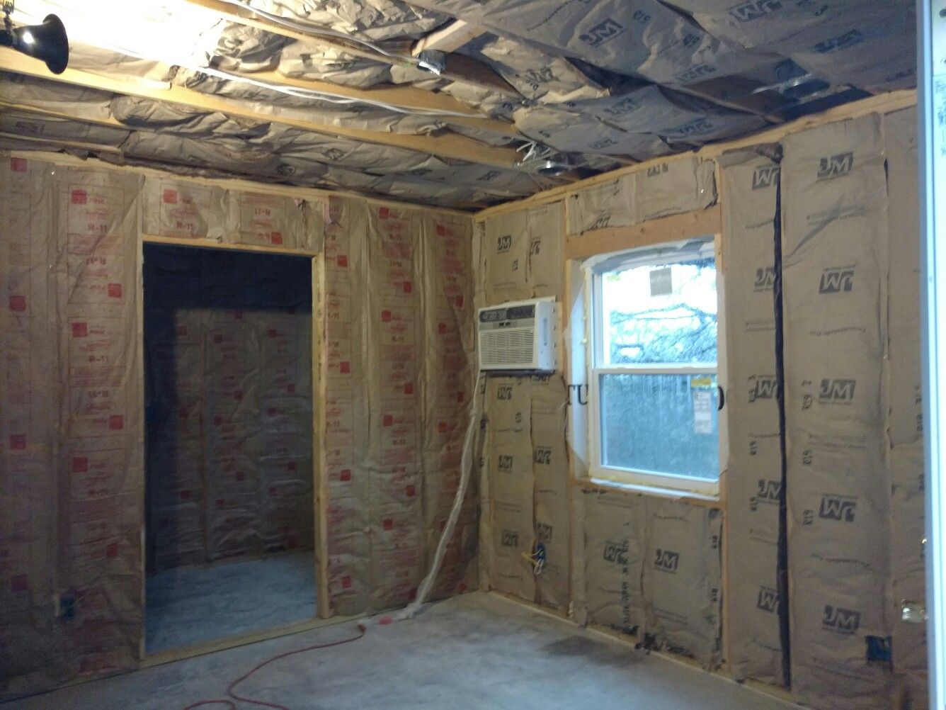 More Insulation In The Downstairs Master. We Insulated The Interior Walls  As Well For An