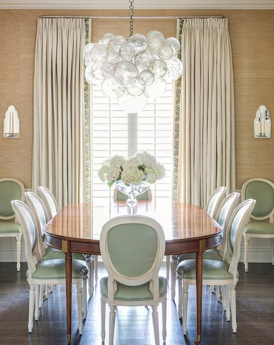 This French Return Drapery Rod Is Minimalist Perfect For Traditional Yet Modernesque Dining Room