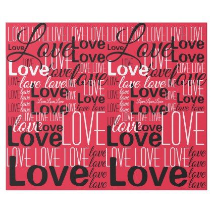 Love Word Art Pattern Wrapping Paper Art Patterns Weddings And Wedding