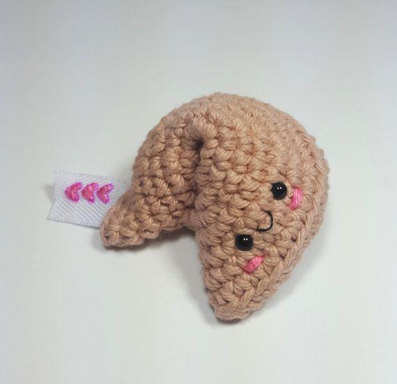 Fortune Cookie Kawaii Plush Amigurumi Crochet Food Kawaii Crochet ...