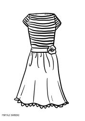Disegni Di Vestiti Da Stampare E Colorare Gratis Portale Bambini Dresses Coloringpages Coloring Vestiti Colori Disegni