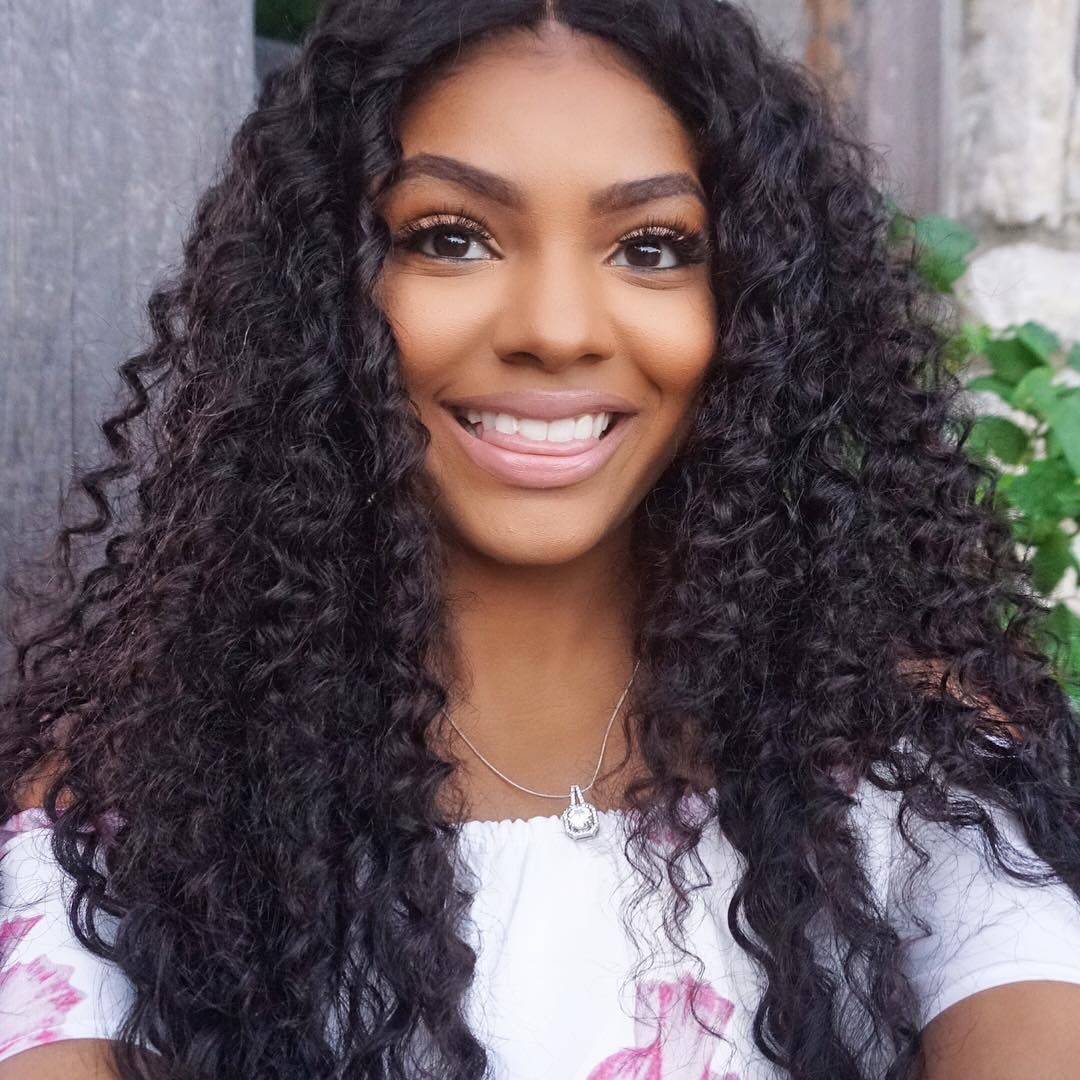4 Bundles Brazilian Deep Wave Human Virgin Hair With 4*4 Lace Closure #africanamericanhair