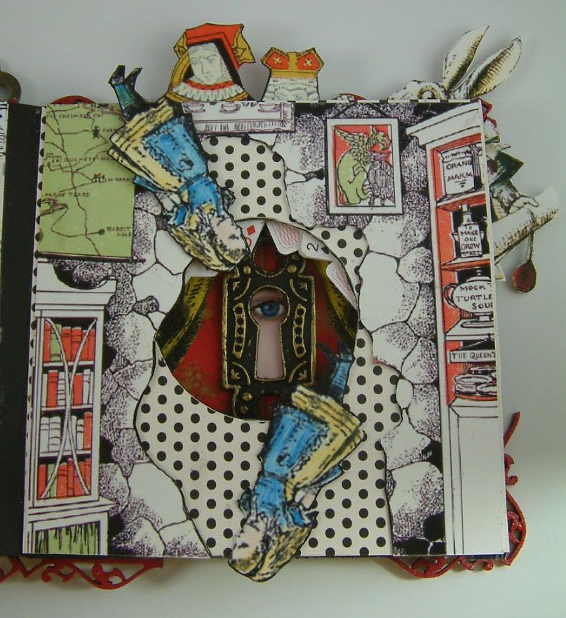 Artfully musing alice in wonderland tunnel book arts Alice and wonderland art projects