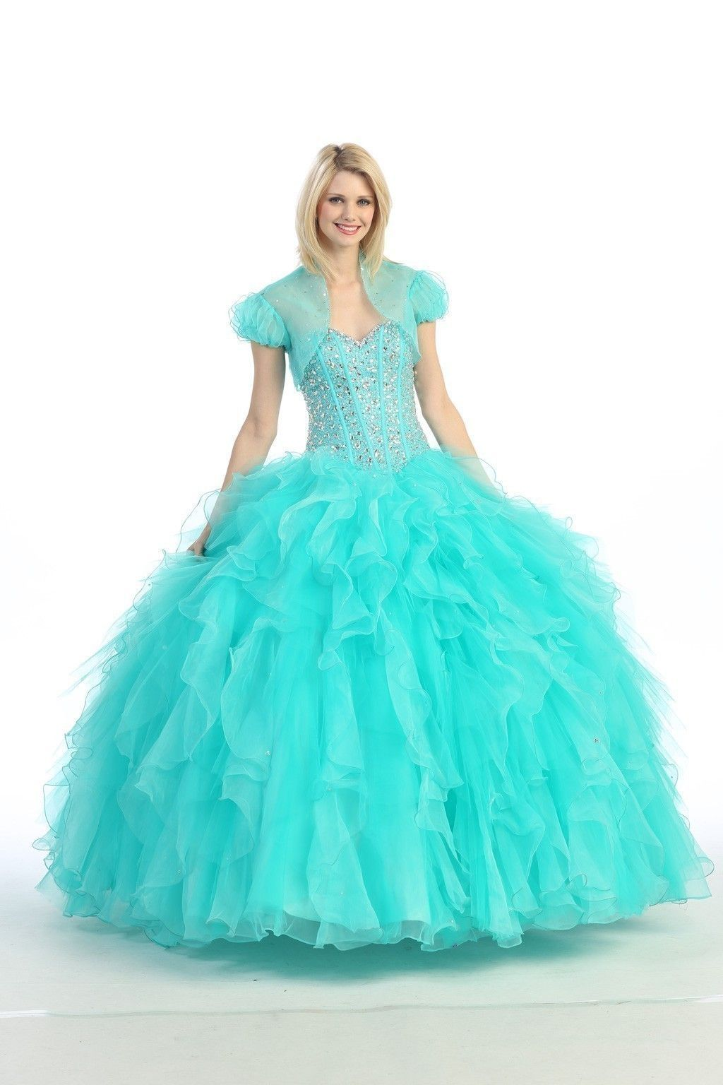 tiffany blue quinceañera dress tumblr | ... LONG ORGANZA BODICE ...