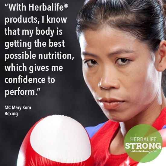 MC Mary Kom Boxing Herbalife Sponsored Athlete