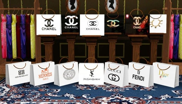 Stylish Designer Shopping Bags By Ladesire Sims 3