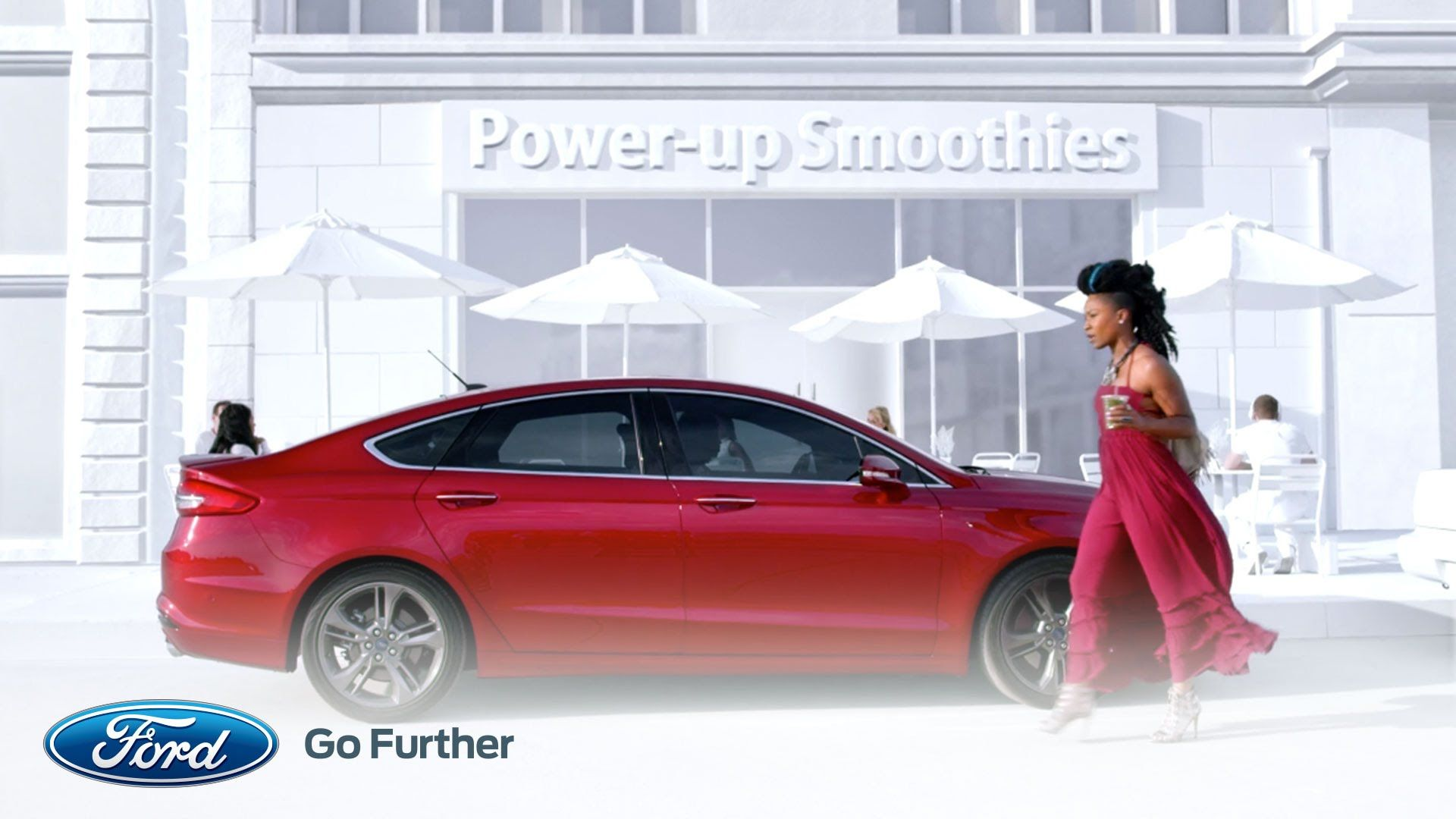 The 2017 Ford Motor Company Fusion Sport drives to the