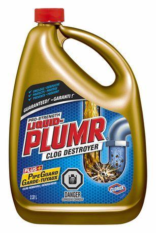 Liquid Plumr Pro Unclog Drain Bathtub Drain Mustard Bottle