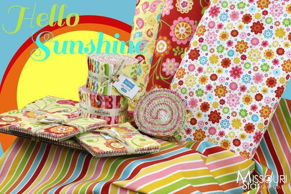 So bright and cheery! Hello Sunshine by Lori Whitlock Designs for Riley Blake Designs