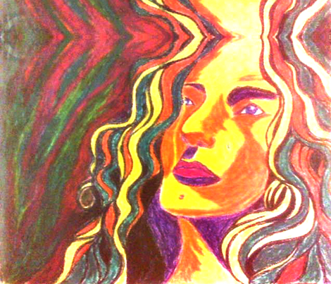 marzlene_fauvism_robert_plant fabric by marzlene'z_eye_candy on Spoonflower - custom fabric  my favorite voice on the planet