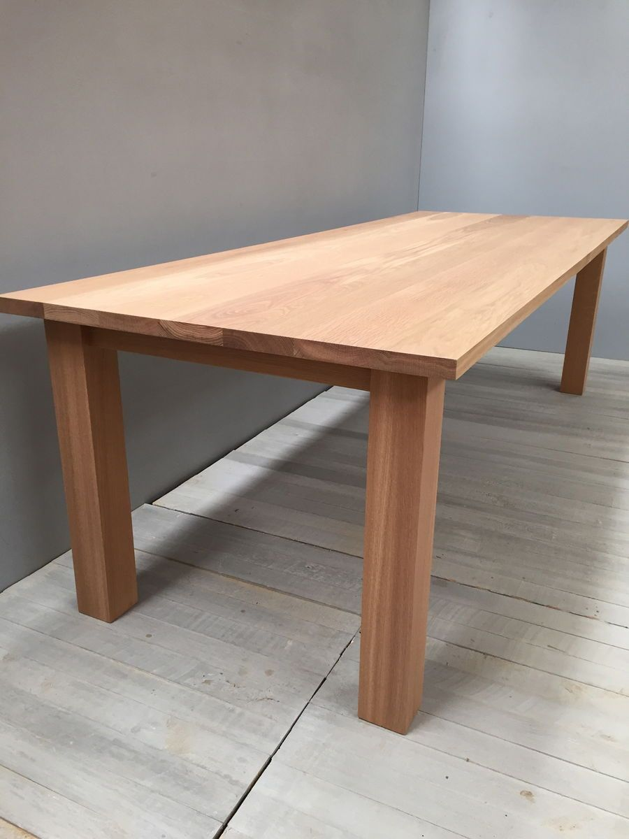 Contemporary Solid Oak Dining Table   Chris Colwell Design
