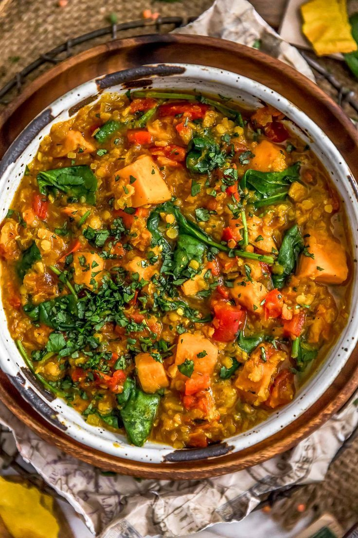 Curried Red Lentil and Sweet Potato Stew - Monkey