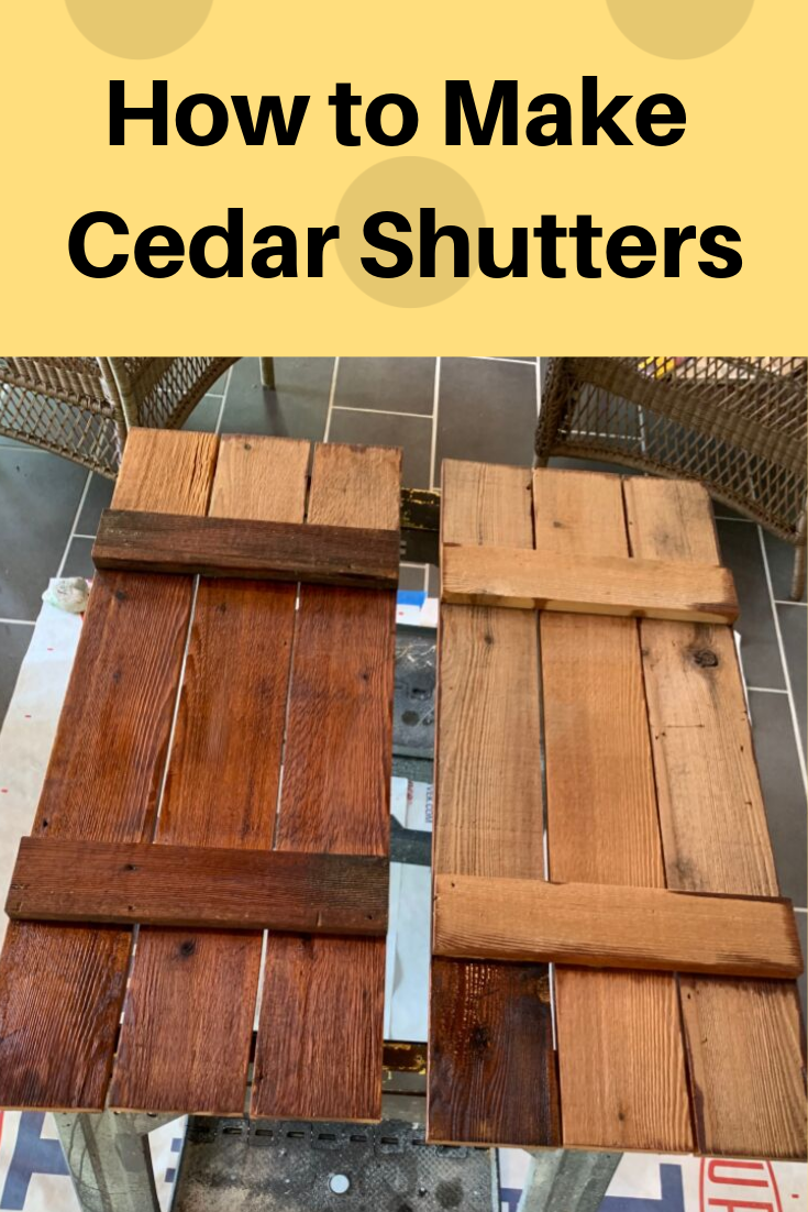 How to Make Cedar Shutters