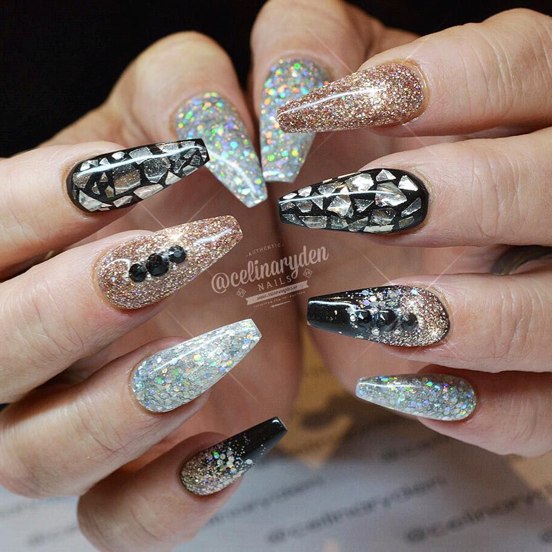 """Got your New Years Eve nails on? Light Elegance hard gels"